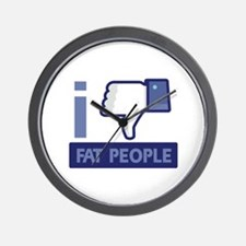 I unlike Fat People Wall Clock