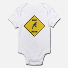 Budgie Crossing Sign Infant Bodysuit