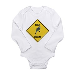 Budgie Crossing Sign Long Sleeve Infant Bodysuit