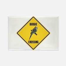 Budgie Crossing Sign Rectangle Magnet