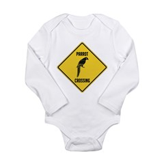 Parrot Crossing Sign Long Sleeve Infant Bodysuit