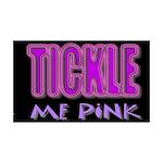 tickle me pink 38.5 x 24.5 Wall Peel