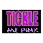 tickle me pink Sticker (Rectangle 10 pk)