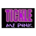 tickle me pink Sticker (Rectangle)