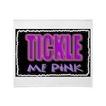 tickle me pink Throw Blanket