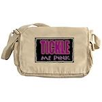 tickle me pink Messenger Bag