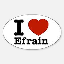 I love Efrain Sticker (Oval)