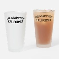 Mountain View California Drinking Glass