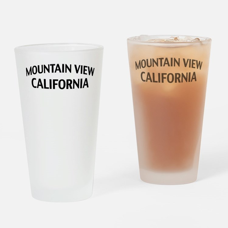 Mountain View California Drinking Glass