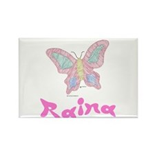 Pink Butterfly Raina Rectangle Magnet