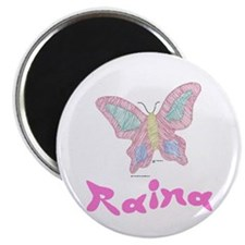 Pink Butterfly Raina Magnet