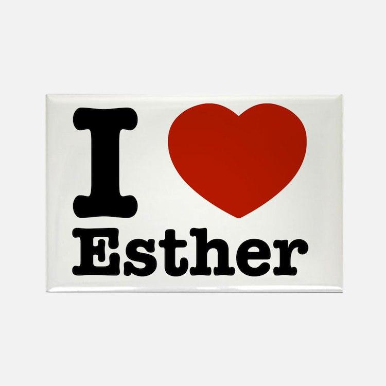 I love Esther Rectangle Magnet
