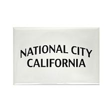 National City California Rectangle Magnet