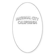 National City California Decal