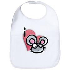 I Love Mice Bib