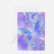 Funny Blue fractal Greeting Card