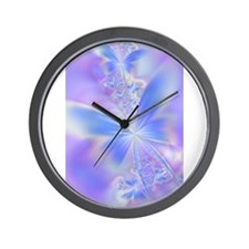 Cute Blue fractal Wall Clock