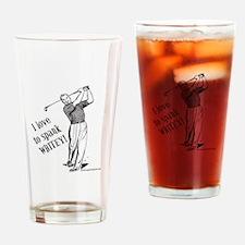 I love to spank WHITEY! Drinking Glass