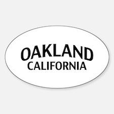 Oakland California Sticker (Oval)