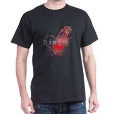Bingo Heart Floral Reto 2 T-Shirt