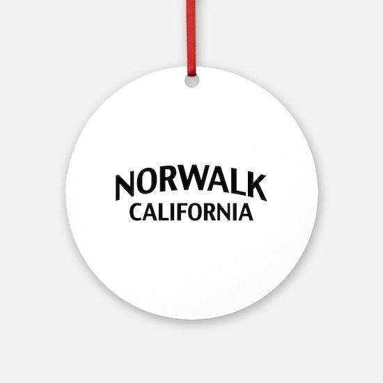 Norwalk California Ornament (Round)
