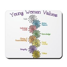 LDS YW Values - Stack of Flow Mousepad