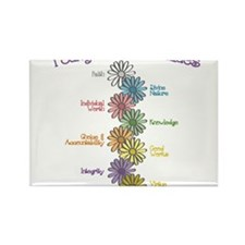 LDS YW Values - Stack of Flow Rectangle Magnet (10