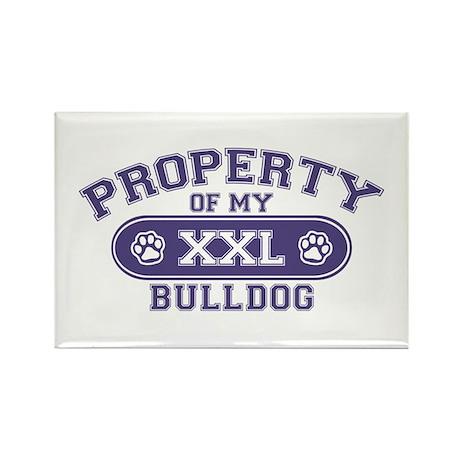 Bulldog PROPERTY Rectangle Magnet