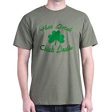 Hot Irish Chick Inside T-Shirt