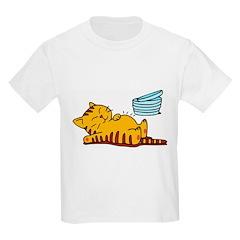Funny Fat Cat Kids T-Shirt