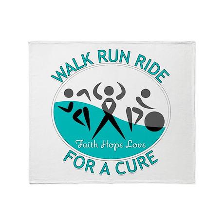 Cervical Cancer Walk Run Ride Throw Blanket