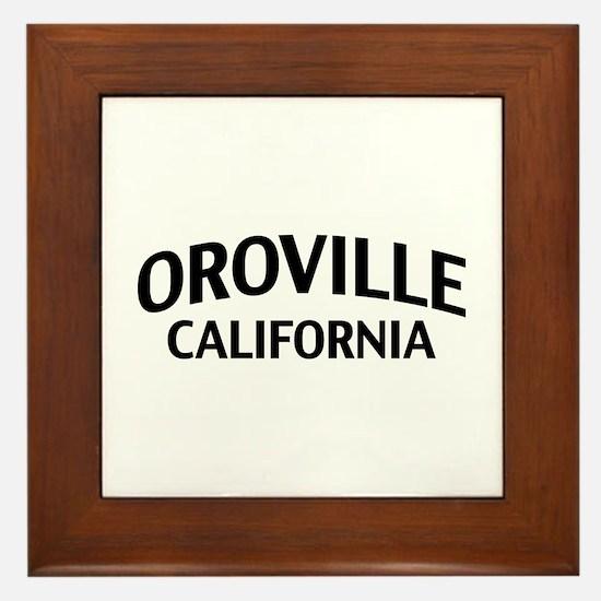 Oroville California Framed Tile