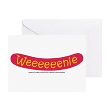Weenie - Hot dog Greeting Cards (Pk of 10)