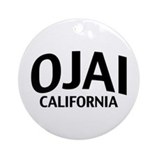 Ojai California Ornament (Round)