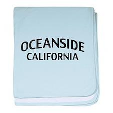 Oceanside California baby blanket