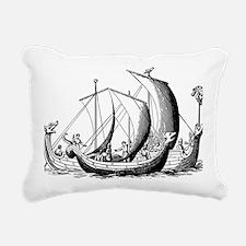 Cute Vintage sail boat Rectangular Canvas Pillow