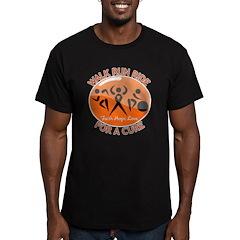 Leukemia Walk Run Ride Men's Fitted T-Shirt (dark)