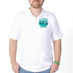 Ovarian Cancer Walk Run Ride Golf Shirt