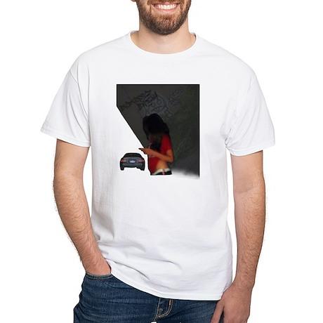 Badass Noa Ashe Men's White T-Shirt