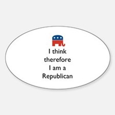 I Think Republican Sticker (Oval)