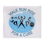 Prostate Cancer Walk Run Ride Throw Blanket