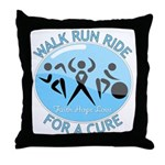 Prostate Cancer Walk Run Ride Throw Pillow