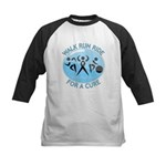 Prostate Cancer Walk Run Ride Kids Baseball Jersey