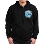 Prostate Cancer Walk Run Ride Zip Hoodie (dark)