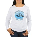 Prostate Cancer Walk Run Ride Women's Long Sleeve