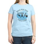 Prostate Cancer Walk Run Ride Women's Light T-Shir