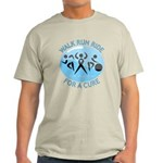 Prostate Cancer Walk Run Ride Light T-Shirt