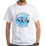 Prostate Cancer Walk Run Ride White T-Shirt