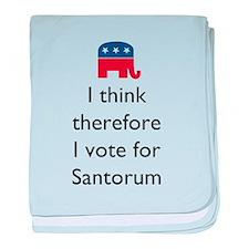I Think Santorum baby blanket