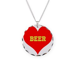 iHeart Beer Necklace